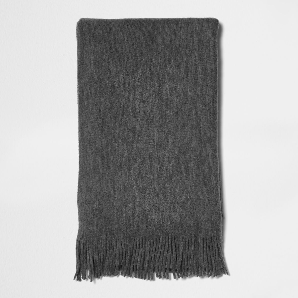 Grey blanket scarf