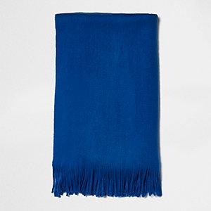 Écharpe façon couverture bleue