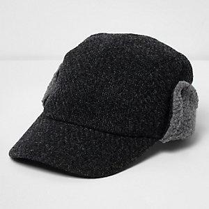 Grey deerstalker baseball cap