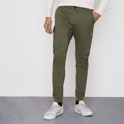 River Island Pantalon cargo vert kaki