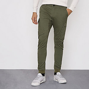 Khaki green cargo pants