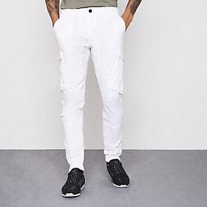 Pantalon cargo blanc