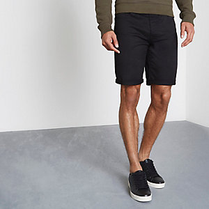 Zwarte slim-fit short