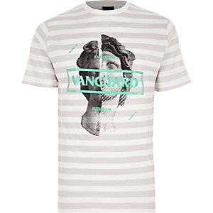 White stripe 'vanguard' slim fit T-shirt