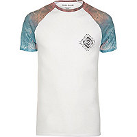 Big and Tall white smudge T-shirt