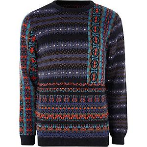 Weihnachtspullover im Fairisle-Design