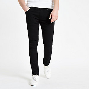 In jeans skinny teen doing abstract