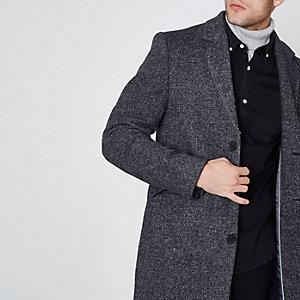 Blue smart overcoat