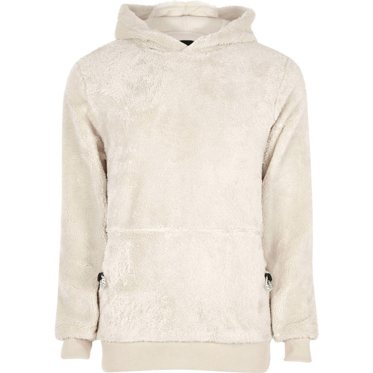 Stone fleece hoodie
