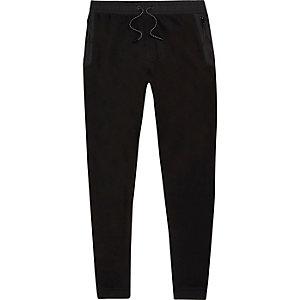 Schwarze Jersey-Jogginghose
