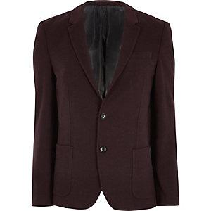 Blazer en jersey ajusté bordeaux