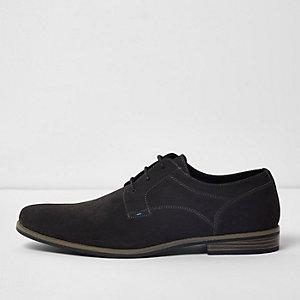 Grey suede derby shoes