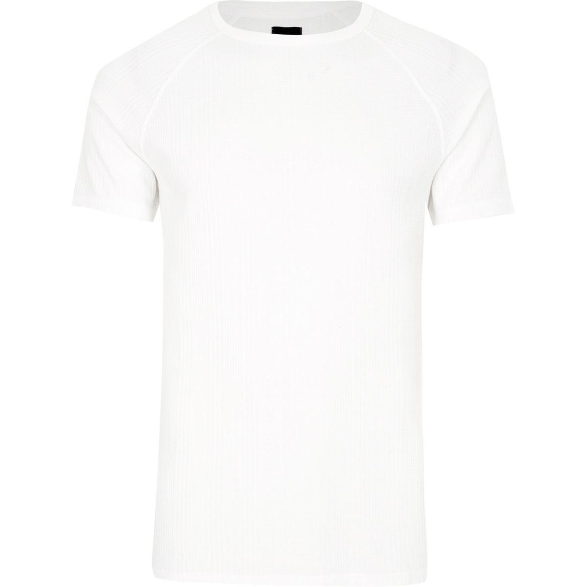 White jacquard short sleeve slim fit t shirt t shirts for Slim fit white t shirt