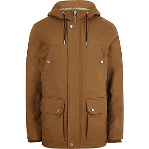 Big & Tall – Veste à capuche avec doublure imitation peau de mouton