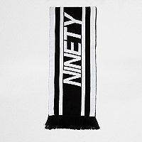 Écharpe de football «ninety» en maille noire