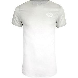 T-shirt ajusté blanc délavé