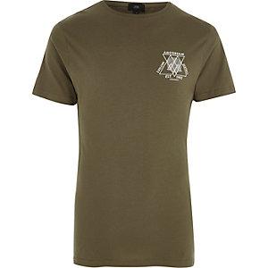 T-shirt ras-du-cou imprimé « Amsterdam » vert
