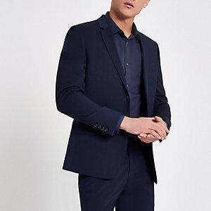 Marineblaue Skinny Anzugjacke