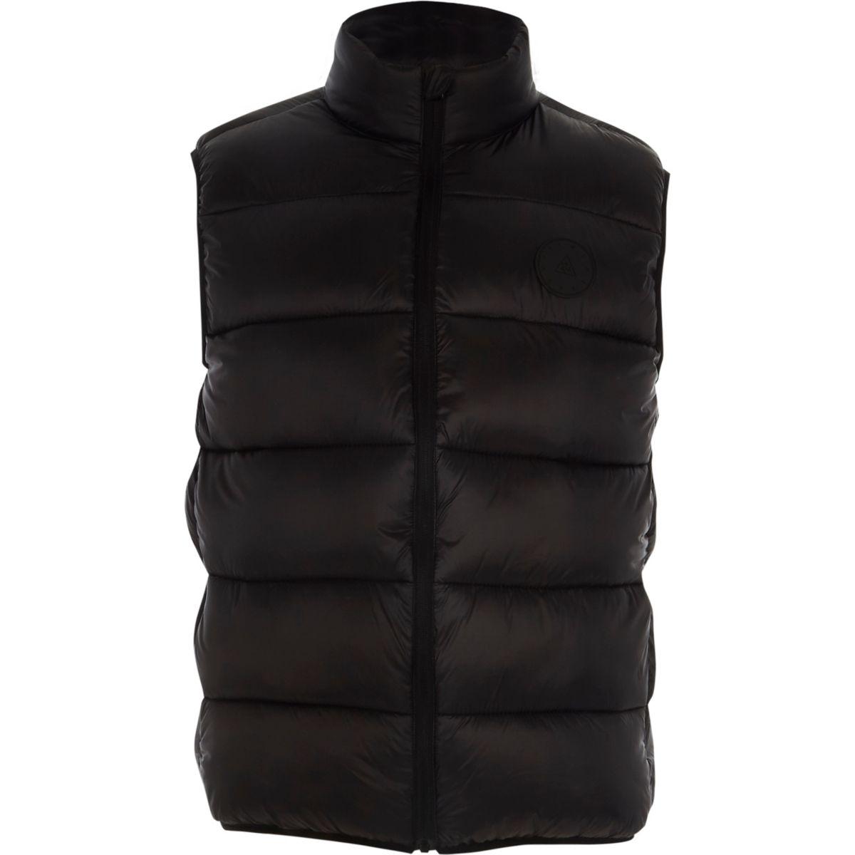 Black puffer vest