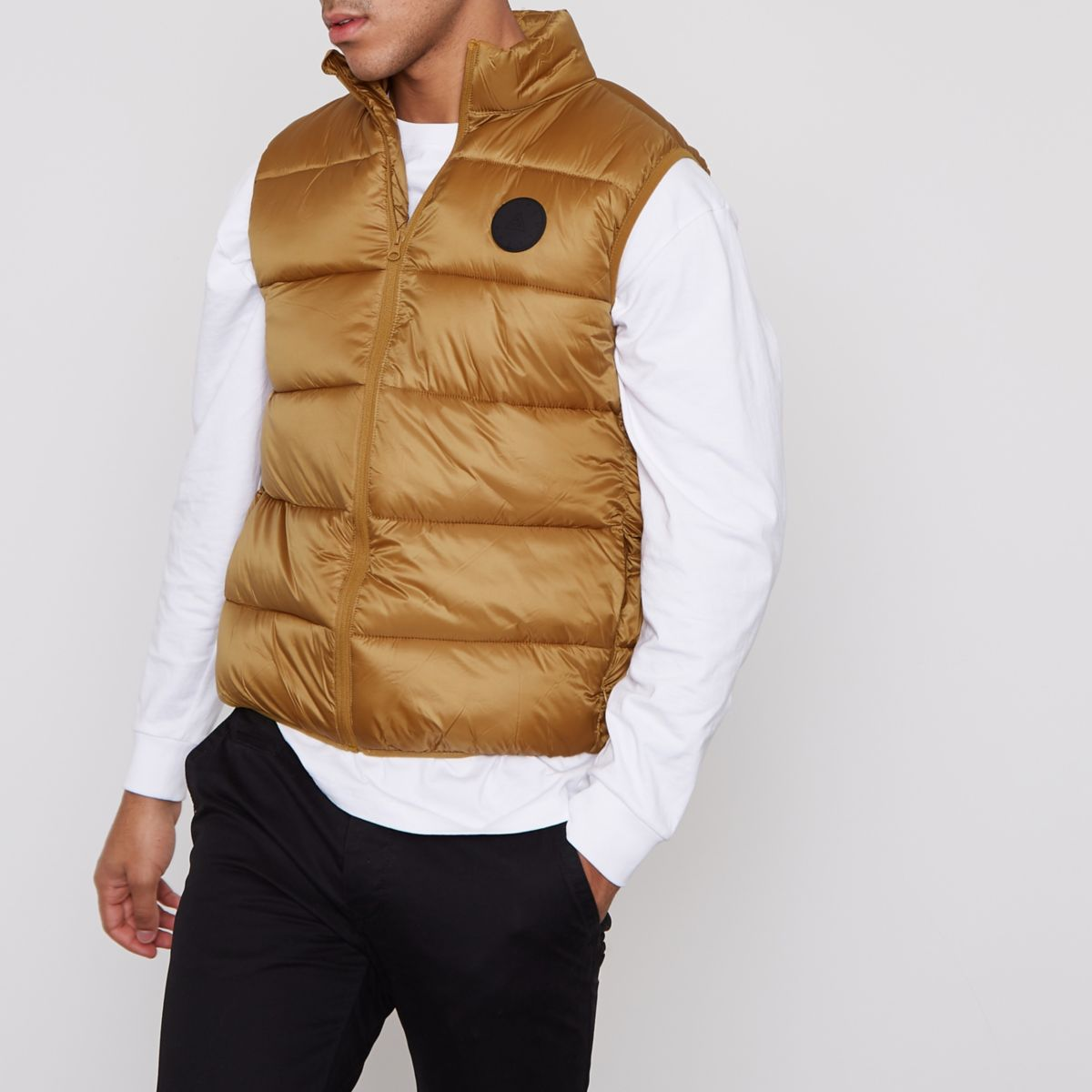 Mustard yellow puffer vest