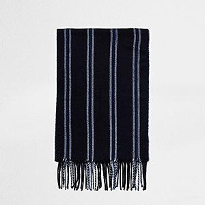 Marineblauw gestreepte sjaal
