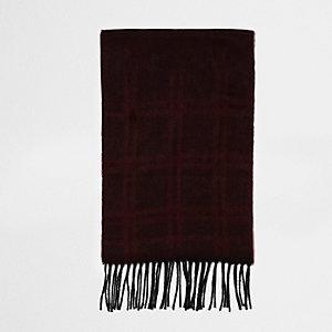 Écharpe à carreaux rouge en dégradé