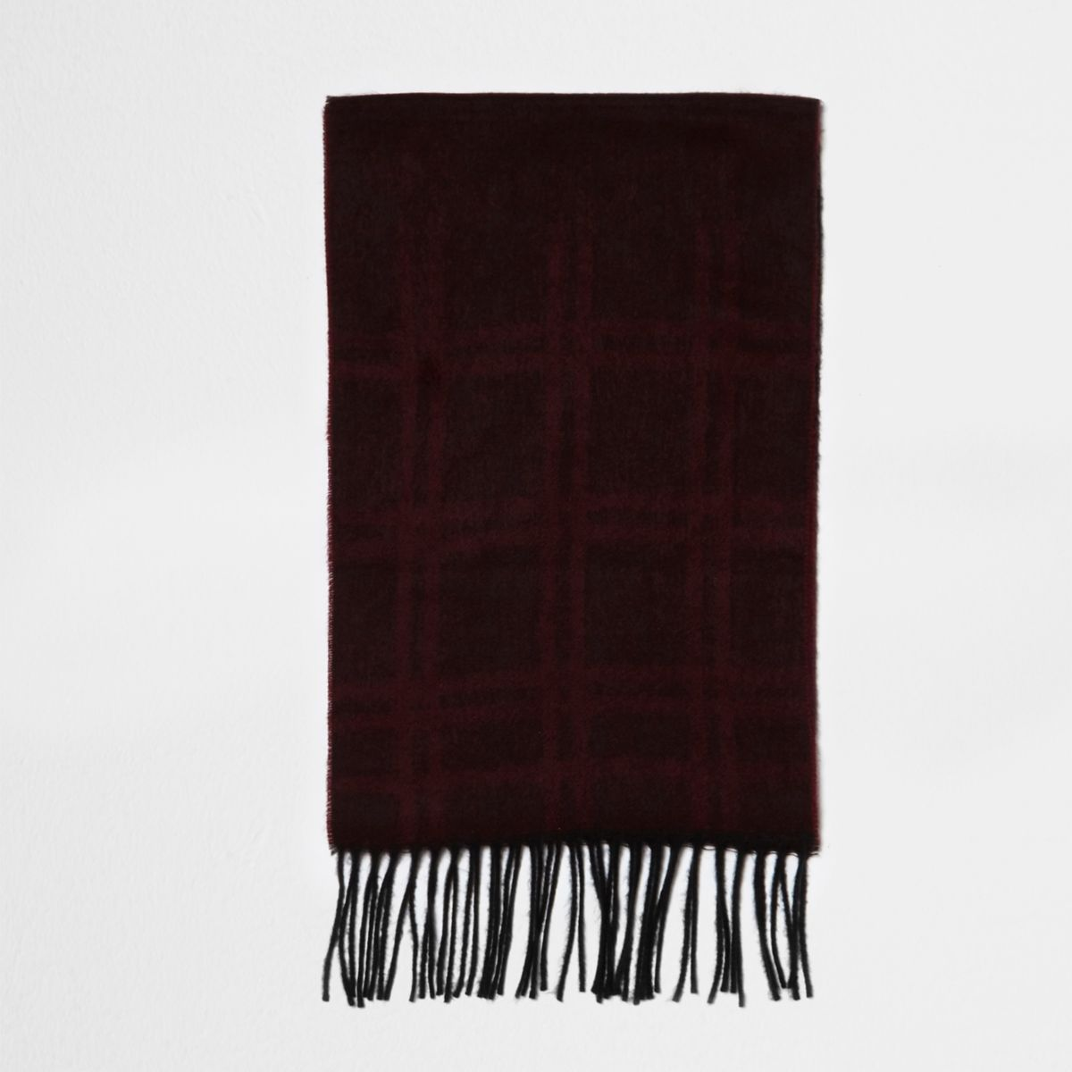 Red check gradient scarf