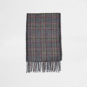 Grijze sjaal met Prince of Wales-ruit