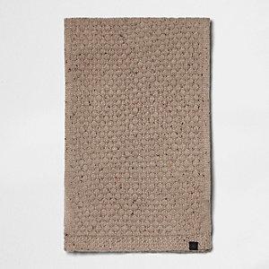 Écharpe en maille texturée grège