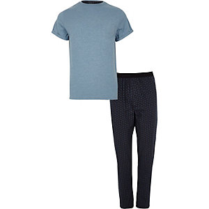 Blue paisley print pyjama set