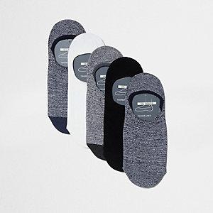Graue Sneaker-Socken, Set