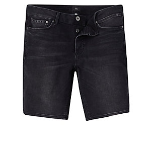 Zwarte skinny fit denim short