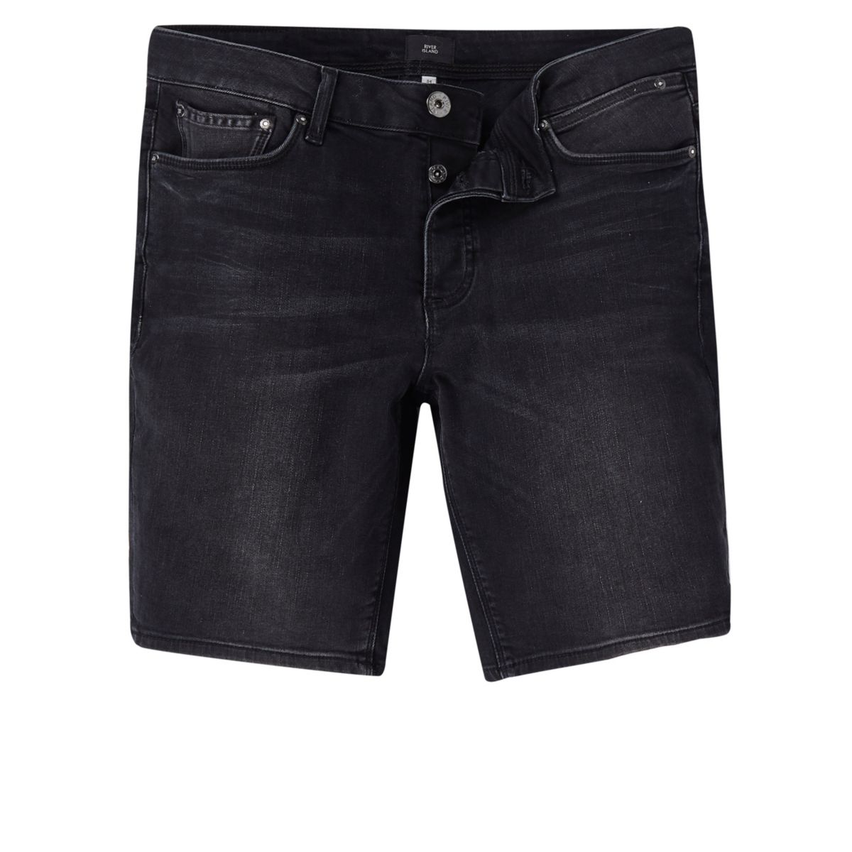 Short en jean noir coupe skinny