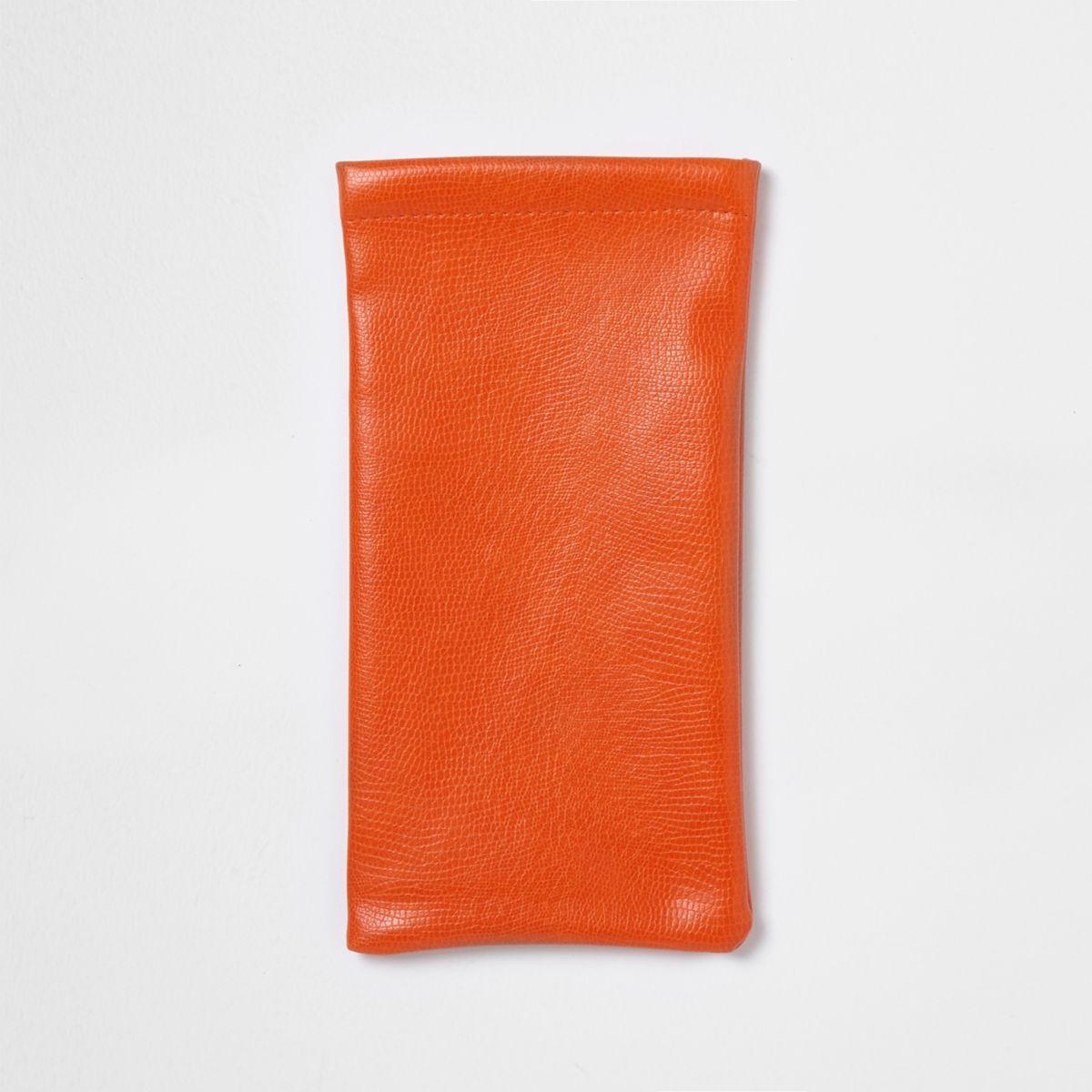 Orange sunglasses case