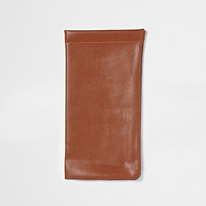 Tan brown sunglasses case