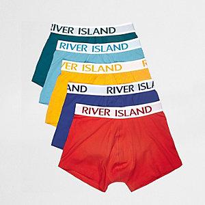 Lot de boxers rouges multicolores