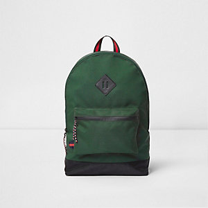 Green front pocket backpack