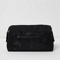 Black camo pocket washbag
