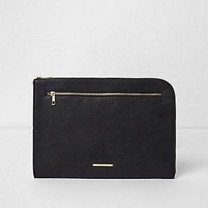 Black zip around laptop case