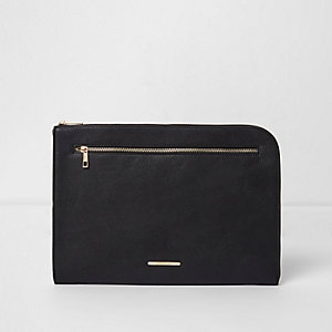 Black zip around laptop case
