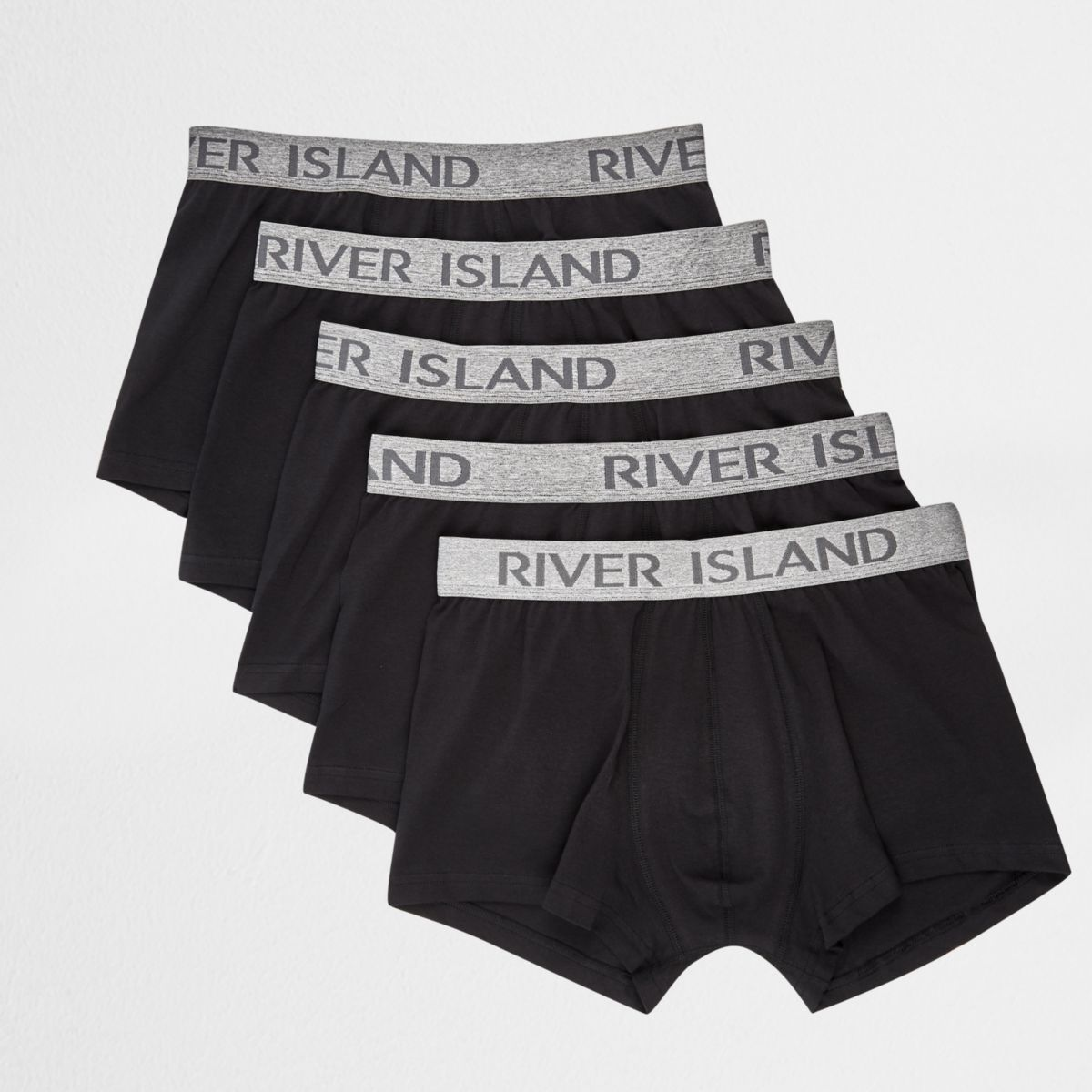 Black and grey RI hipster boxers multipack
