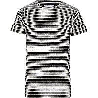Black Bellfield stripe crew neck T-shirt
