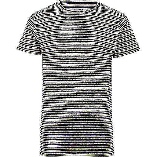 Black Bellfield stripe crew neck T-shirt