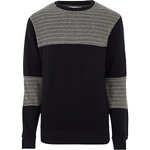 Black Bellfield block crew neck sweatshirt