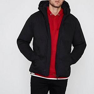 Bellfield - Zwarte gewatteerde jas