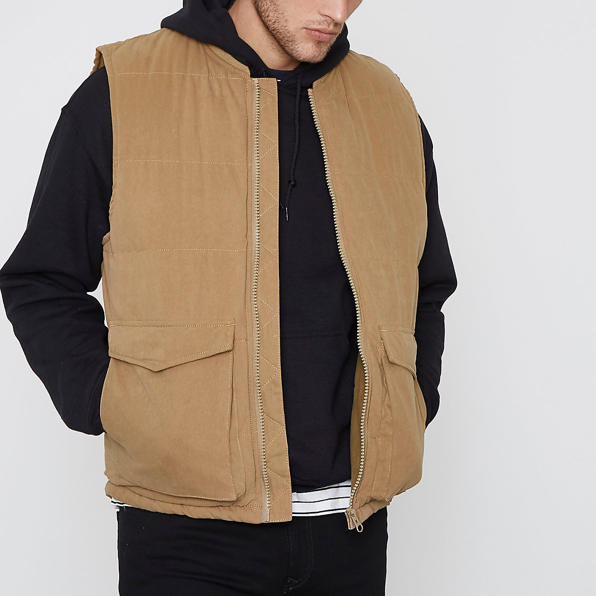 Brown Bellfield padded vest