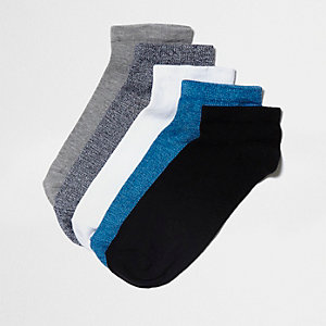 Blue trainer sock multipack