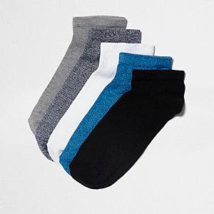 Blaue Sneakersocken, Multipack