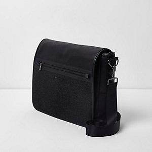 Dark grey flapover satchel bag