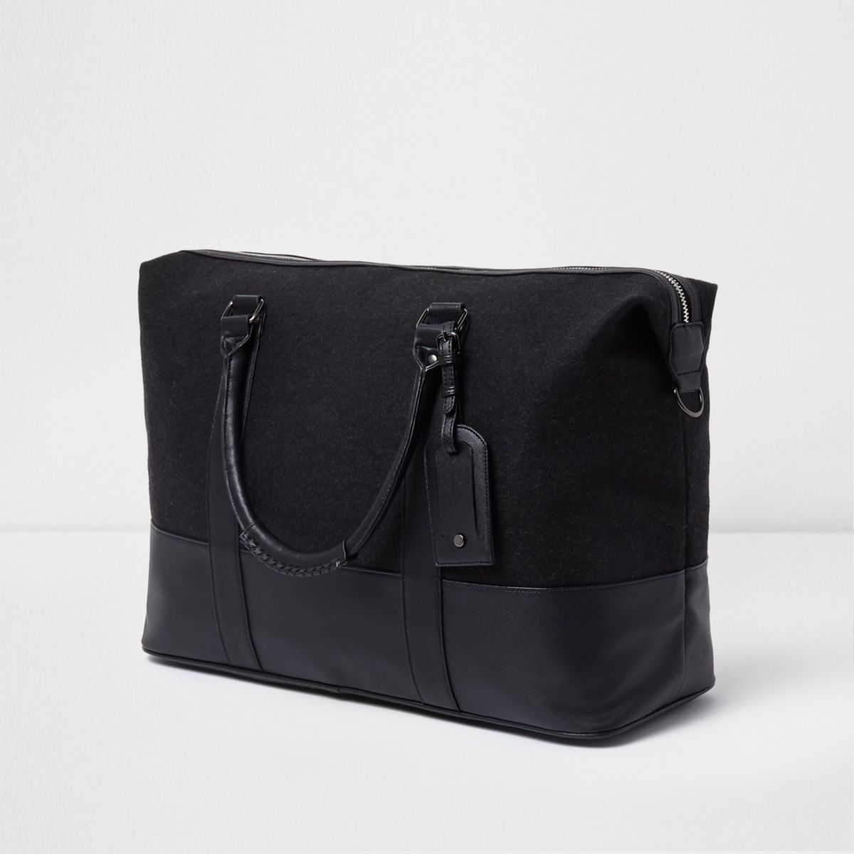 Dark grey holdall bag